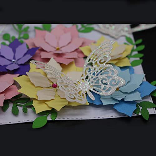 Lazzboy Fustelle Natale Scrapbooking Metallo Stencil Paper Card Craft per Sizzix Big Shot/Altre Macchine(E, Farfalle) - 4