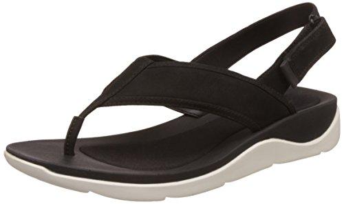 Clarks Women's Black Nubuck Leather Fashion Sandals - 4.5 UK/India (37.5 EU)