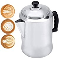 Tetera de la aleación de Aluminio Tapa de la Estufa de la Caldera del té del percolador del pote del Fabricante de café de la aleación de Aluminio con la Tapa