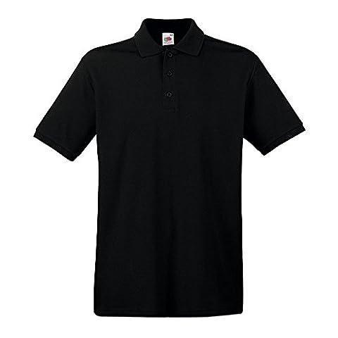 Fruit of the Loom - Premium Polo - Modell 2013 / Black, XXL XXL,Black
