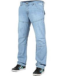 Newfacelook Pour des hommes Straight Fit Jeans Designer Mode toile de jean Haleter Pantalon
