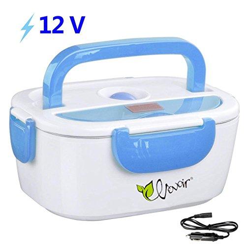 HJL Fiambrera eléctrica comida térmico Lunch Box Fiambreras bento Uso en coche eléctrica con Bandeja extraíble acero inoxidable Recipiente de comida térmico 12V 40W(Azul)