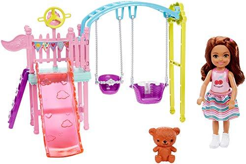 BarbieChelsea Playset mit Schaukel und Zubehör für Kinder, 3+ Anni, FXG84, Mehrfarbig