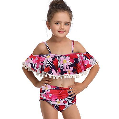 tter und Tochter Familie Badeanzug, 3-6Jahre Damen Baby Mädchen Halter Rüschen Bikini Top Bottom Bademode Strandkleidung ()