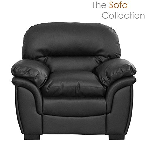 Oklahoma Leather Sofa Suite – 1/2/3/3+2 Seat in Black/Brown/Cream (Cream, 1 Seat)