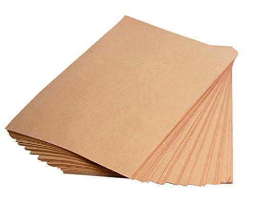 Clairefontaine 975007C Packung mit 25 Blatt Kraftpapier (160g, DIN A4, 21 x 29,7 cm, ideal für Kunstprojekte und zum Einpacken) braun (Drucker Papier Ries)