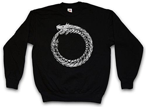 OUROBOROS SWEATSHIRT PULLOVER PULLI – Uroboros Schlange Ancient Myths Mythologie Snake Größen S – 3XL