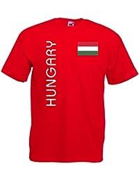 world-of-shirt Herren T-Shirt Ungarn EM 2016 Trikot Fan Shirt