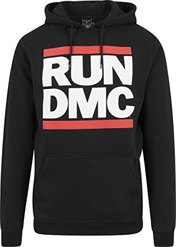 Mister Tee Herren Run Dmc Logo Hoodie, Schwarz, XS (Long Run Sleeve Tee)