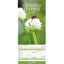 Glücksmomente 2017 - Familienplaner, 5 Spalten Familienterminkalender  -  19,5 x 45 cm