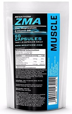 ZMA Premium - ZMA Muscle Bodybuilding Supplements for Men, 60 comprimés | Augmenter les taux de testostérone chez MEGATHOM Best Muscle Building Supplements