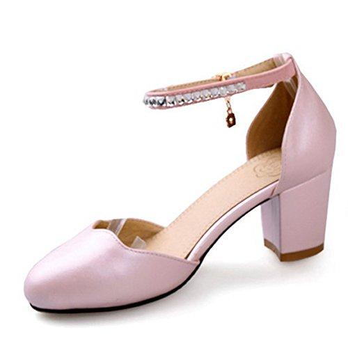 Balamasa da donna, con tacco basso, suola con motivo scarpe Pink