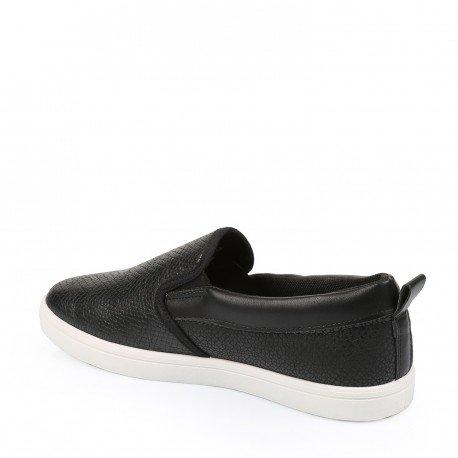 Ideal Shoes - Slippers homme en similicuir Rohan Noir