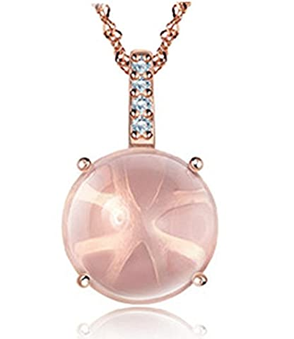 Opal Pendentif Colliers Or Rose Plaqué cubique Bijoux zircon diamant