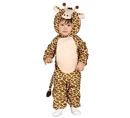 Kinder-Kostüm Giraffe Gr. 68/80 Fleece Overall KInderfasching Kleinkind Kostüm