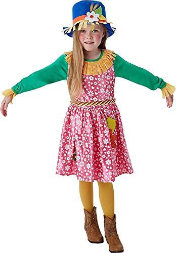 Von Zauberer Mädchen Vogelscheuche Oz Kostüm - Mrs Vogelscheuche Mädchen Kostüm Zauberer von Oz Buch Woche Tag Kinderkostüm - Multi, L (7-8 Years)