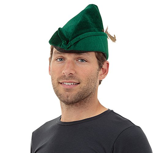 Kostüm Peter Hood Oder Pan Robin Kinder - Bristol Novelty, Robin-Hood-Mütze aus weichem Filz, BH531, Einheitsgröße