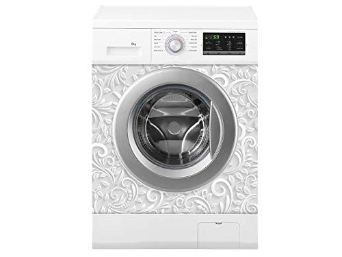 Oedim Waschmaschine weisser Druck | Verschiedene Maße 70 x 70 cm | Beständiger und leicht aufzutragender Klebstoff | Eleganter Entwurfs-dekorativer klebender Aufkleber -