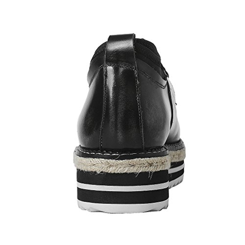 Casual Abbigliamento Enmayer Di Basse Piatto Piattaforma Piedi Nere Scarpe Donne Stringate Caduta Solida Scarpe Pompe Punta Primavera q8aRn0