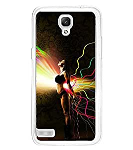 Fiobs Designer Back Case Cover for Xiaomi Redmi Note :: Xiaomi Redmi Note 4G :: Xiaomi Redmi Note Prime (Colorful Background Artistic Young Lady Simple )