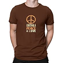 Teeburon Guatemala PEACE AND LOVE Camiseta