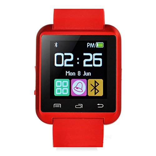 Mavv MVV U8 Smartwatch / Digital Smartwatch / WatchPhone Compatible With Micromax Canvas Play Mobiles - Red