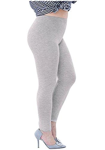 CHIC DIARY Damen Modal Übergröße Leggings Elastische Plus Size Strumpfhose blickdicht Uni Farbe Hosen Pants für Sport Fitness Yoga Joggen (Plus-size-yoga)