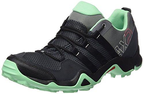 adidas Damen AX2 Trekking-& Wanderhalbschuhe, Grau (Vista Grey S15/Core Black/Green Glow S16), 39 1/3 EU