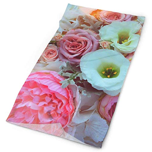 ing Bouquet Flower Original Headband with Multi-Function Sports and Leisure Headwear UV Protection Sports Neck, Sweat-Absorbent Microfiber Running, Yoga, Hiking ()