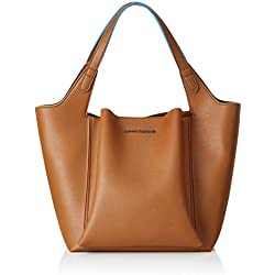 Armani Exchange - Shoulder Bag, Bolsos totes Mujer, Marrón (Cognac), 36.5x24x45 cm (B x H T)