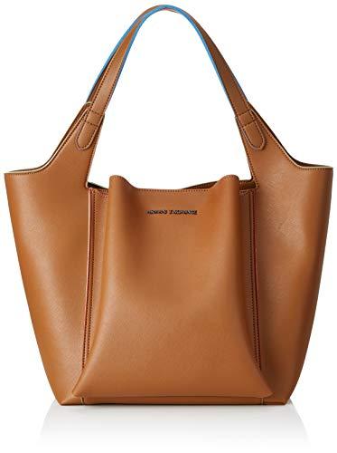 ARMANI EXCHANGE Shoulder Bag - Borse Tote Donna, Marrone (Cognac), 36.5x24x45 cm (B x H T)