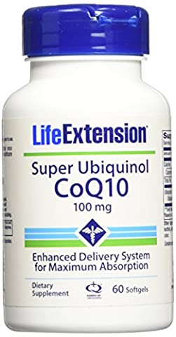 Life Extension Super Ubiquinol CoQ10 (100mg, 60 Softgels)