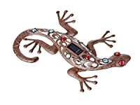 Cole & Bright Gecko Wall Art Light Solar LED Battery Outdoor Garden Décor by Cole & Bright
