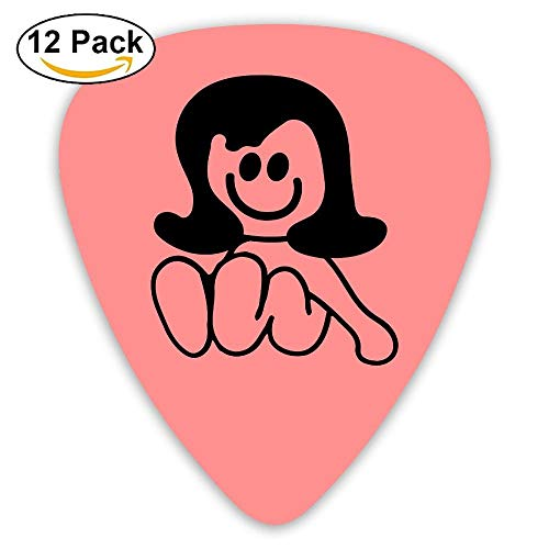 Celluloid Guitar Picks Best Gift For Guitar Lover Mandolin Guitar Plectrums,Print Baby Girl,0.46mm/0.73mm/0.96mm,12 Pack