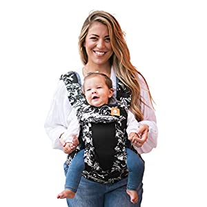 Baby Tula Coast Explore Mesh Baby Carrier 3.2 - 20.4 kg, Adjustable Newborn to Toddler Carrier, Multiple Ergonomic Positions Front/Back, Breathable - Coast Marble, Black/White Marble with Black Mesh   6
