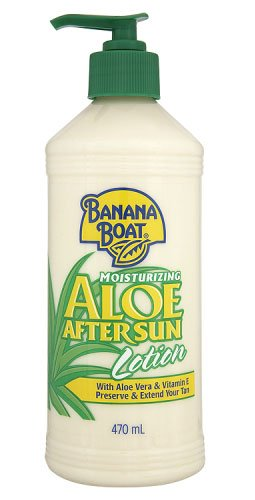 After-sun-lotion (Banana Boat Moisturising Aloe After Sun Lotion With Aloe Vera & Vitamin E Preserve & Extend Your Tan 470 ml)