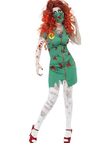 Kostüm Mann Green Jugend - TUTOU Halloween dekorative Requisiten, Blutkrankenschwestern, gruselige Vampir Party Kostüme, Ärzte, Krankenschwestern, Masken,Grün,XL