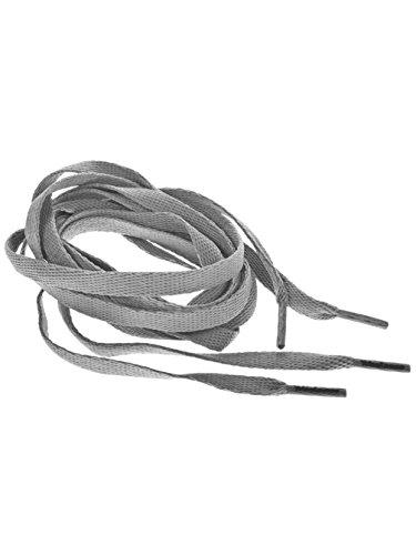TubeLaces White Flat Schnürsenkel Schnürsenkel hellgrau