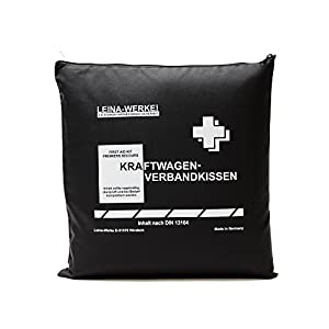 Leina-Werke 11202 KFZ-Verbandkissen Standard, Schwarz/Weiß