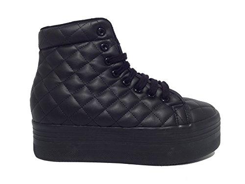 Sneaker JC Play Homg Quilted Lea Black Black