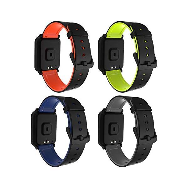 Fitpolo Pulsera de Actividad Inteligente Impermeable IP67,Pulsómetro Mujer Hombre, Monitor de Actividad Deportiva, Reloj… 2