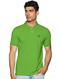 Peter England Men's Solid Regular fit Polo
