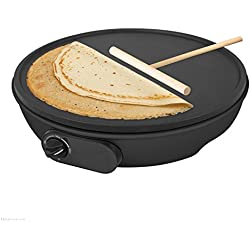 "12"" Non Stick Electric Pancake Crepe Omelette Maker Frying Pan Machine"