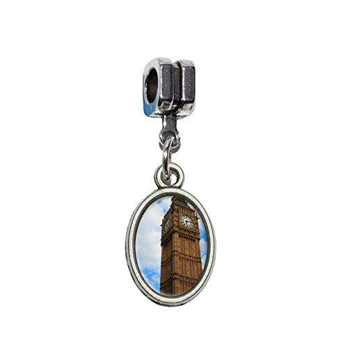 Wanduhr Big Ben London City England Großbritannien Italienisch europäischen Euro Stil Perle Charm...