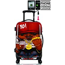 Maleta de Mano Maleta de Cabina Trolley de Cabina para Ryanair Easyjet Vueling de TOKYOTO LUGGAGE 4 Ruedas tamaño 55x35x20cm RAPPERIST (Maleta Preparada para cargar Mobiles)