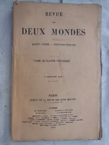 REVUE DES DEUX MONDES. Tomo 43, 15 février 1863