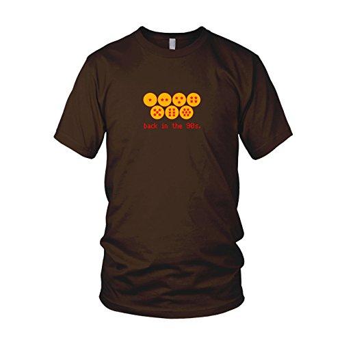 DBZ: Back in the 90s - Herren T-Shirt Braun