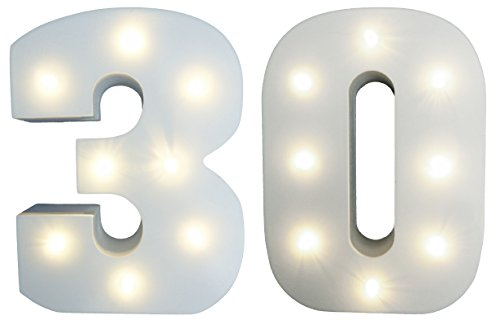 30th Birthday Wooden LED Light-Up Display Sign