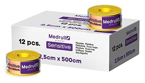 Medrull Sensitiv Pflaster Rolle 5mx2,5cm Fixierpflaster 12 Stück