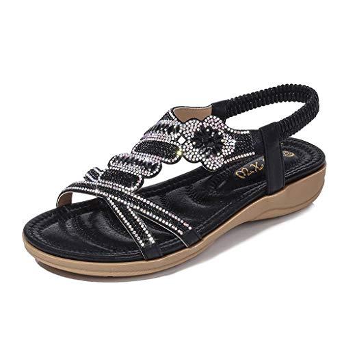 Sandali donna estate bassi meibax sandali da spiaggia con strass intrecciati a forma di pesce t-strap infradito elegante comfort scarpe piatte spiaggia estivi mare scarpe
